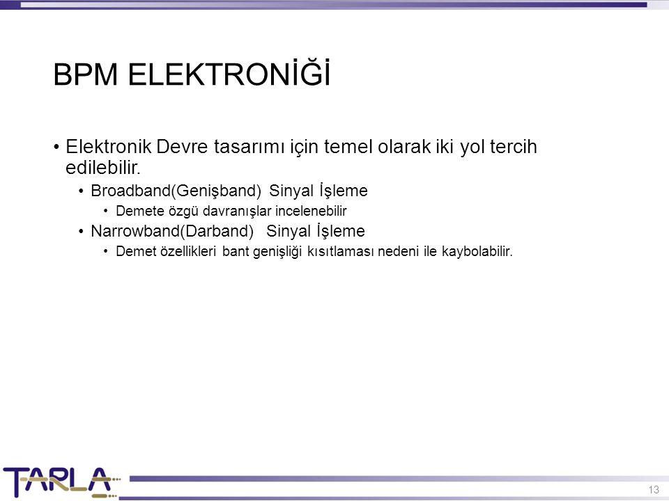 13 Elektronik Devre tasarımı için temel olarak iki yol tercih edilebilir. Broadband(Genişband) Sinyal İşleme Demete özgü davranışlar incelenebilir Nar