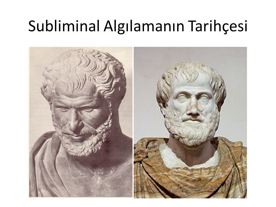 Subliminal Algılamanın Tarihçesi