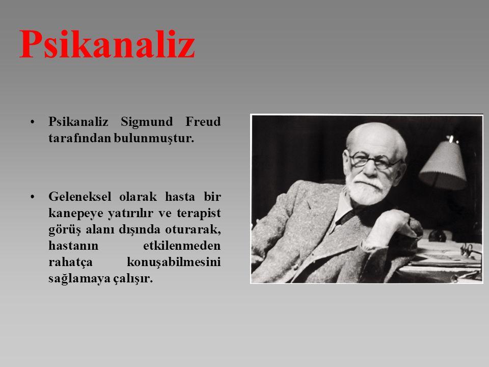 Psikanaliz Sigmund Freud tarafından bulunmuştur. Geleneksel olarak hasta bir kanepeye yatırılır ve terapist görüş alanı dışında oturarak, hastanın etk