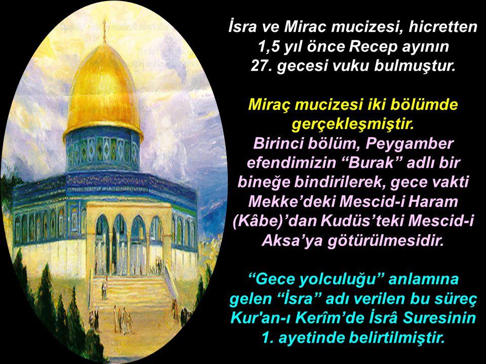 Miraç Mucizesinin ikinci bölümü, Peygamberimizin Cebrail (a.s.) refakatinde göklere yükseldiği kısımdır.