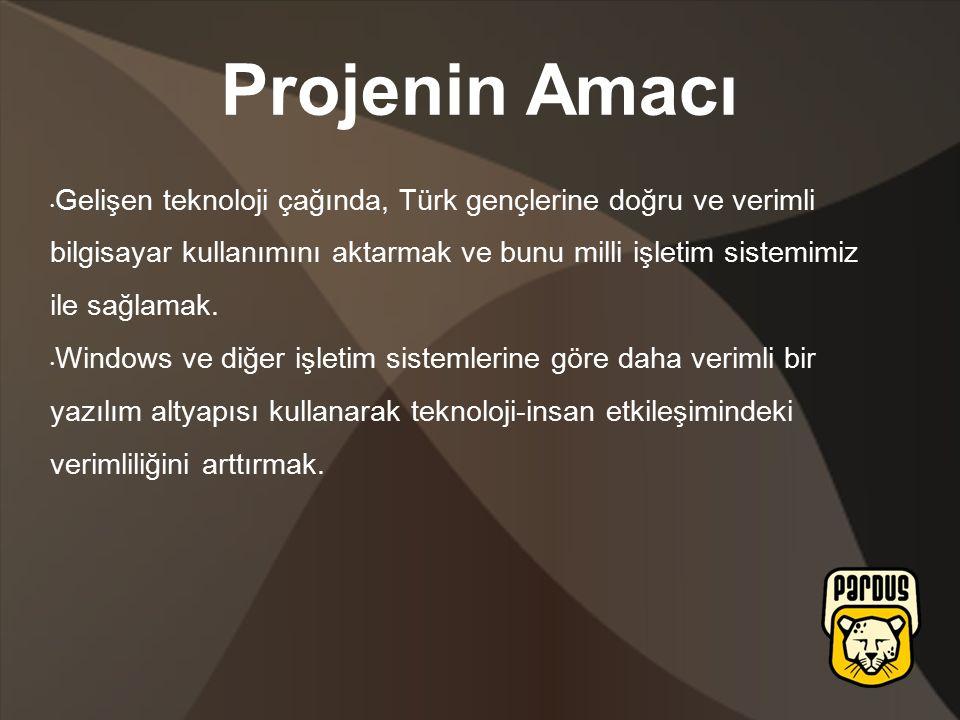 Gelişen teknoloji çağında, Türk gençlerine doğru ve verimli bilgisayar kullanımını aktarmak ve bunu milli işletim sistemimiz ile sağlamak.