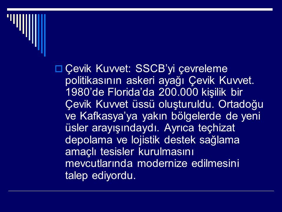  Çevik Kuvvet: SSCB'yi çevreleme politikasının askeri ayağı Çevik Kuvvet.