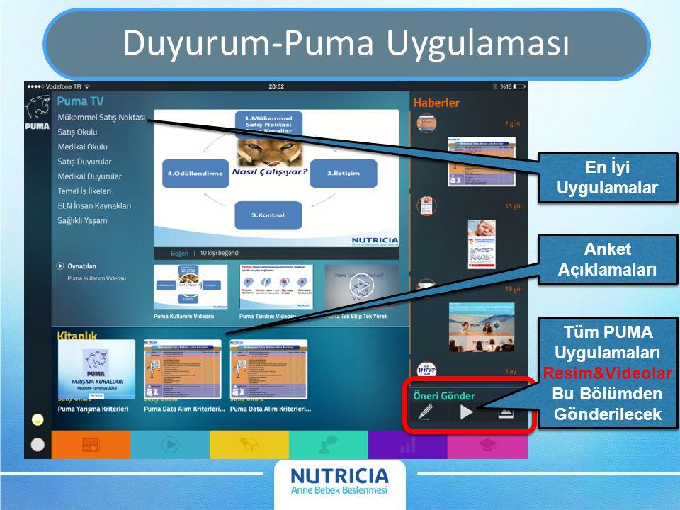 Duyurum-Puma Uygulaması Tüm PUMA Uygulamaları Resim&Videolar Bu Bölümden Gönderilecek Tüm PUMA Uygulamaları Resim&Videolar Bu Bölümden Gönderilecek Anket Açıklamaları En İyi Uygulamalar