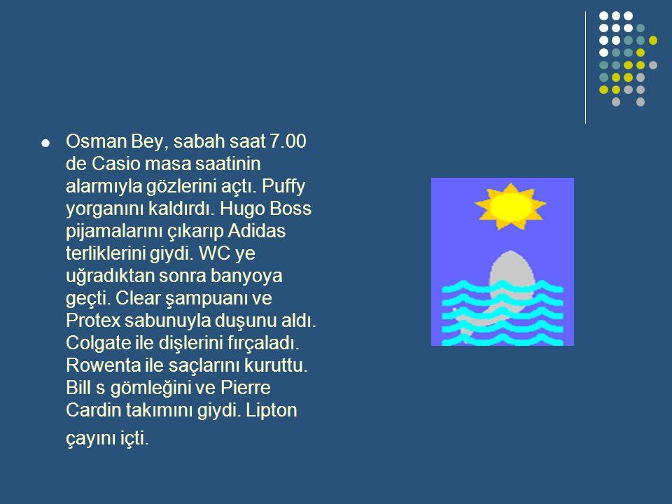 Osman Bey, sabah saat 7.00 de Casio masa saatinin alarmıyla gözlerini açtı.