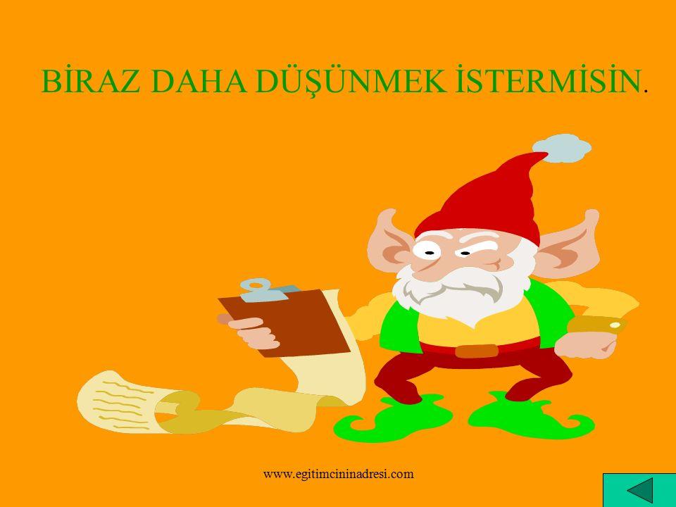 BİRAZ DAHA DİKKATLİ OLMALISIN. www.egitimcininadresi.com