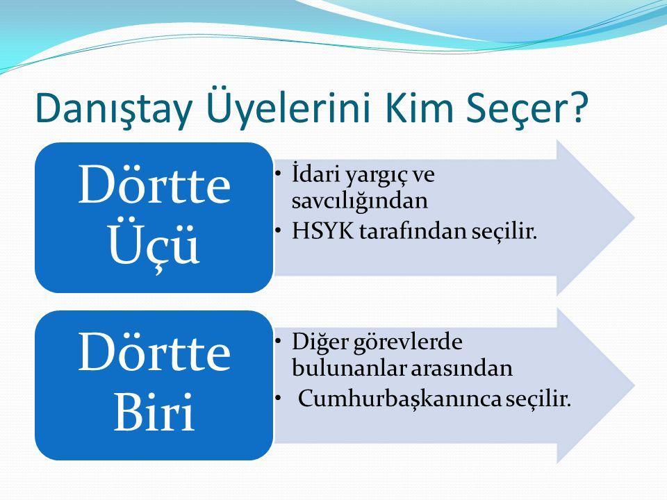 Danıştay Üyelerini Kim Seçer. İdari yargıç ve savcılığından HSYK tarafından seçilir.