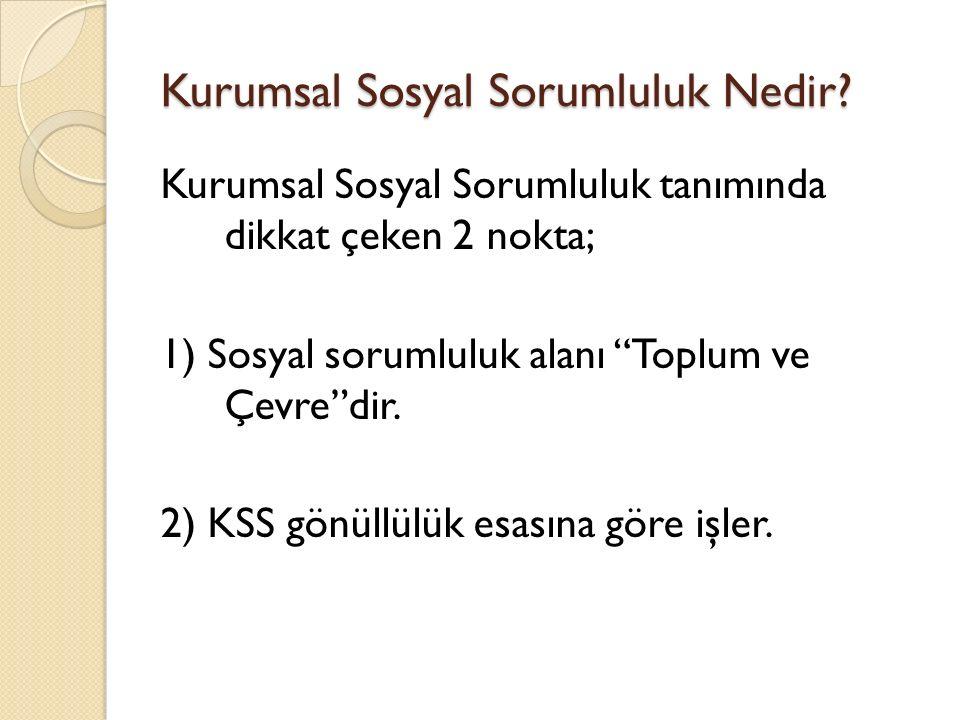 Kurumsal Sosyal Sorumluluk ve Türkiye Türkiye'de uzun yıllar KSS demek hayır işleri yapmak olarak algılanmaktaydı.