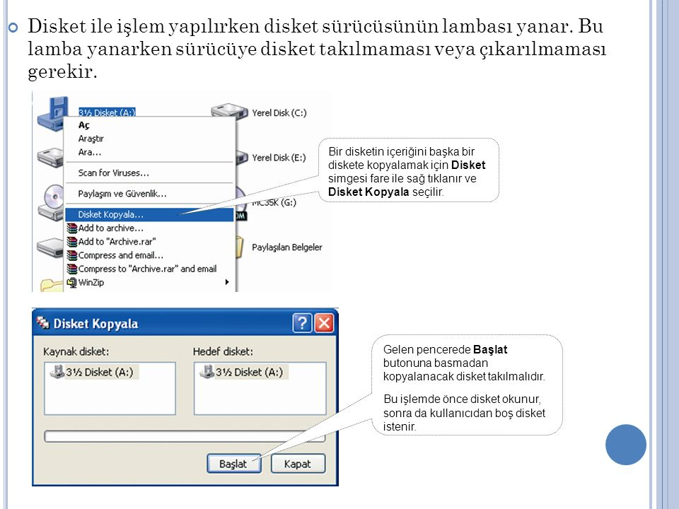 Bilgisayar içerisinde önceden kayıtlı bir belgenin yeri bilinmiyorsa ve ona ulaşmak istenirse Ara komutu ile o dosyaya ulaşılır.