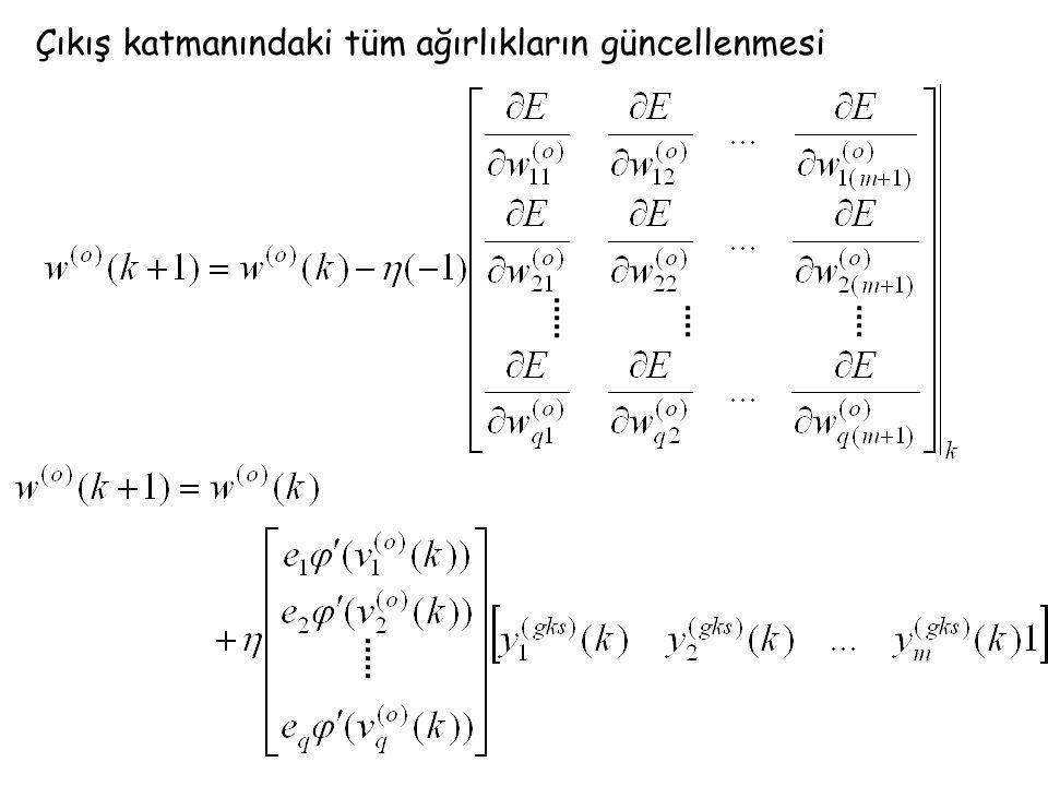 gizli katman (gks-1)'deki j.nöron ile gizli katman (o)'daki i.