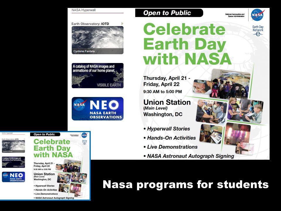 Nasa programs for students