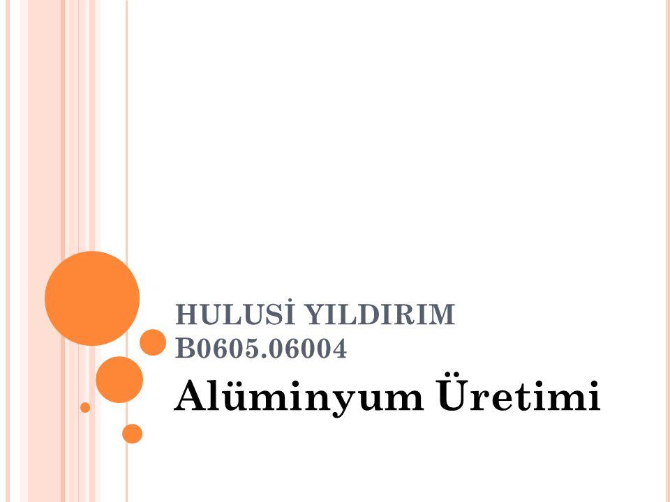 HULUSİ YILDIRIM B0605.06004 Alüminyum Üretimi