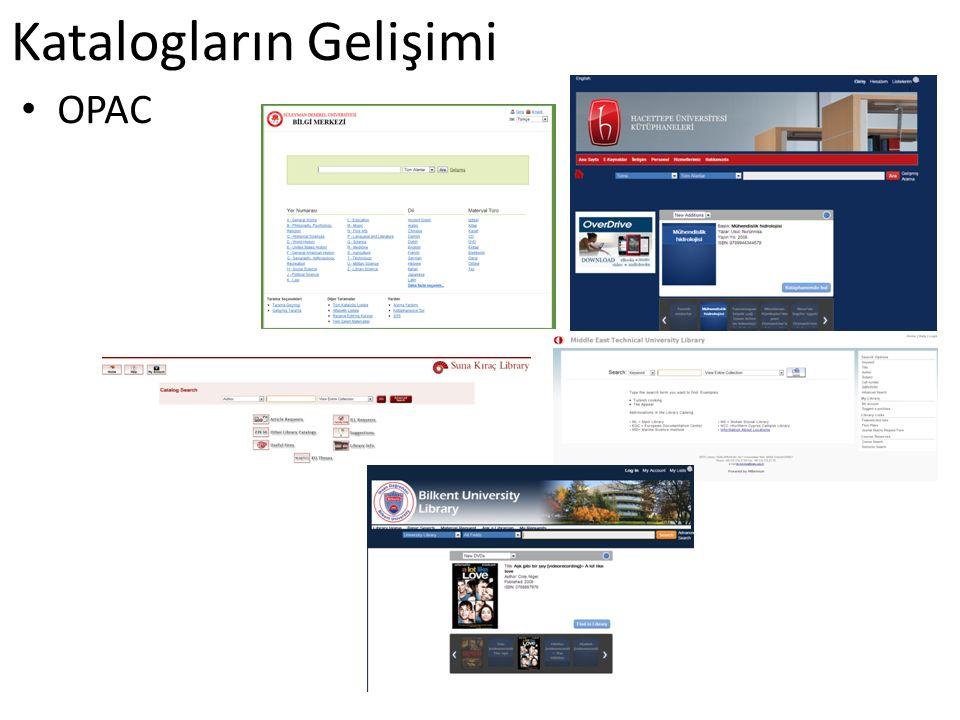 Katalogların Gelişimi OPAC