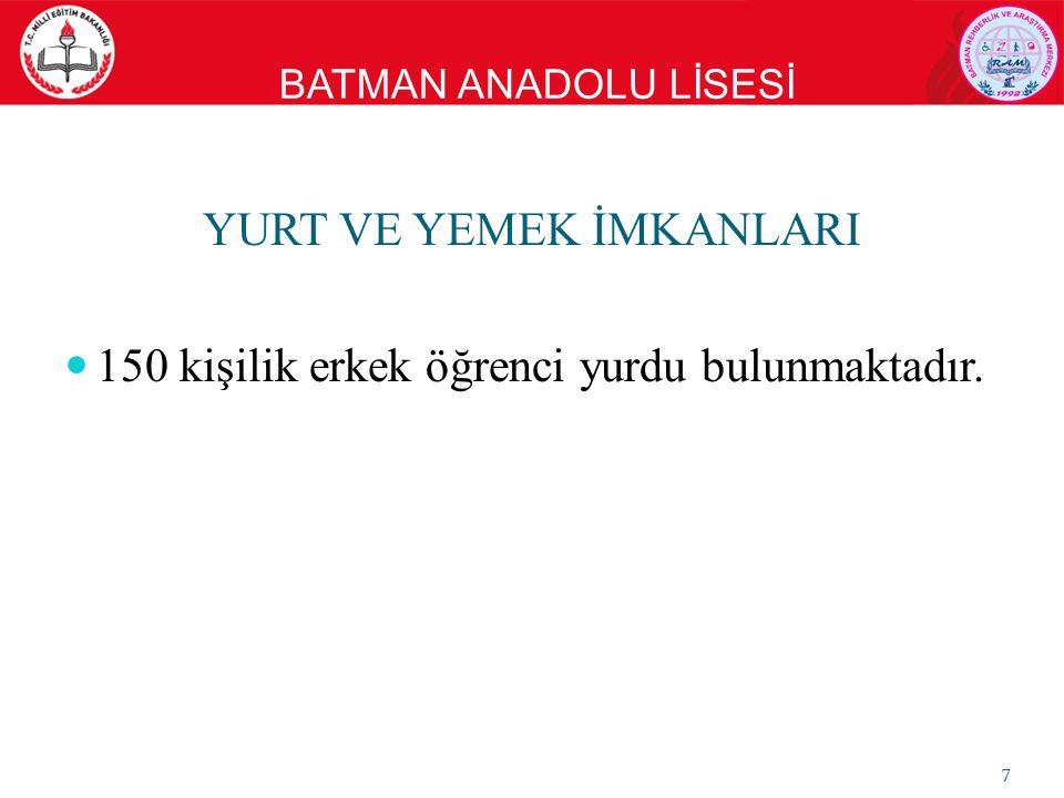 BATMAN ANADOLU LİSESİ YURT ODASI