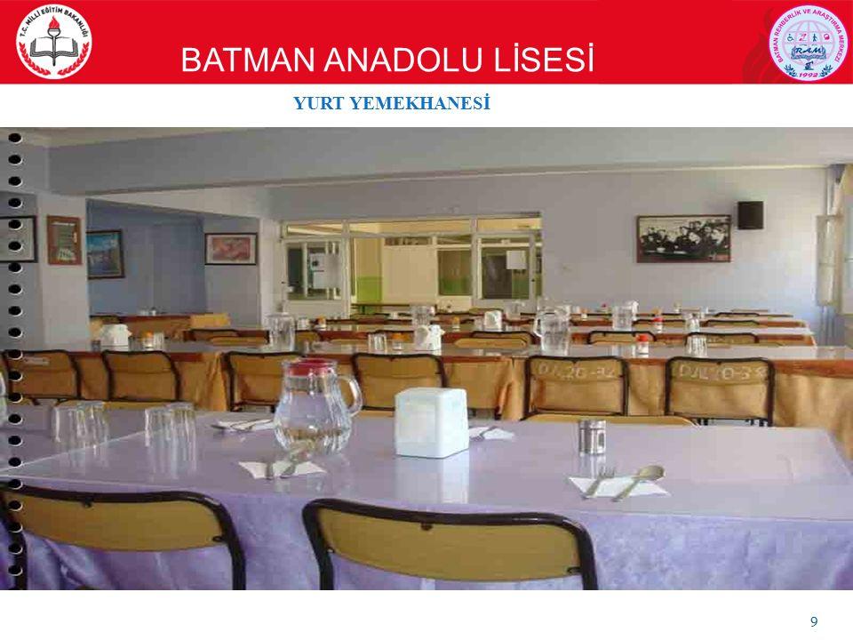 BATMAN ANADOLU LİSESİ 9 YURT YEMEKHANESİ
