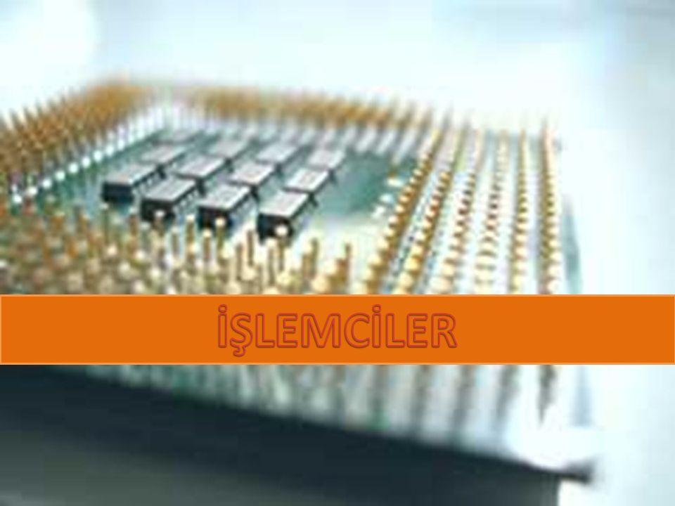 İşlemcilerin Fiziksel Yapıları SOKET İŞLEMCİ Üzerinde marka ve modeli yazar.