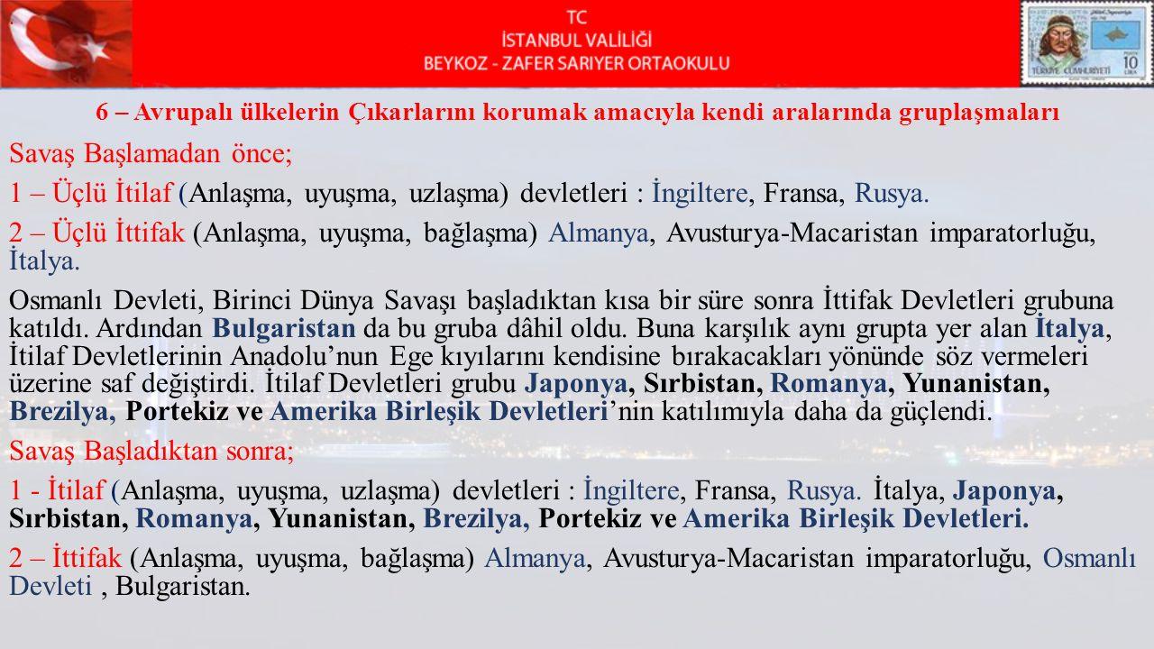 Osmanlı Devletinin 1. dünya savaşına girişi........