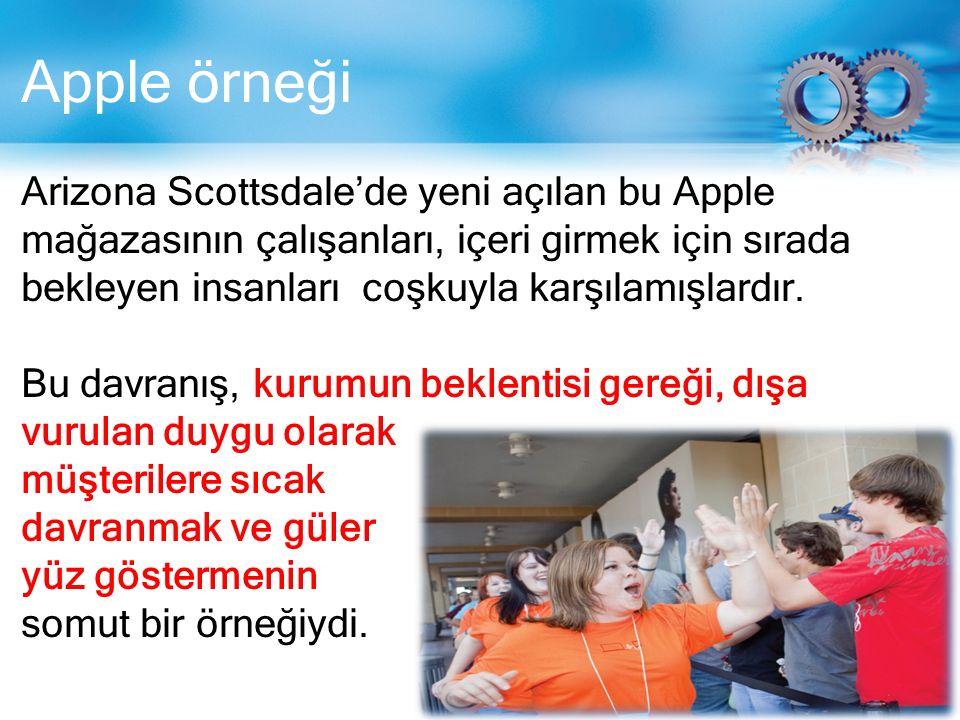 Apple örneği Arizona Scottsdale'de yeni açılan bu Apple mağazasının çalışanları, içeri girmek için sırada bekleyen insanları coşkuyla karşılamışlardır.