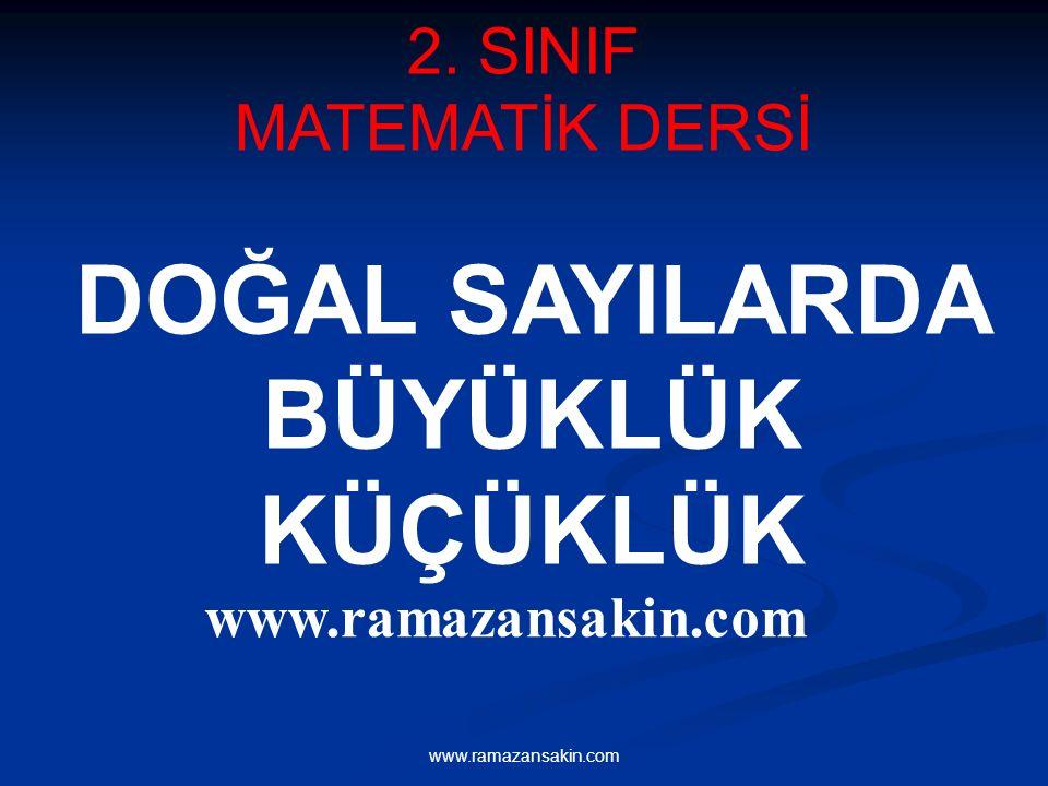 www.ramazansakin.com 2. SINIF MATEMATİK DERSİ DOĞAL SAYILARDA BÜYÜKLÜK KÜÇÜKLÜK www.ramazansakin.com