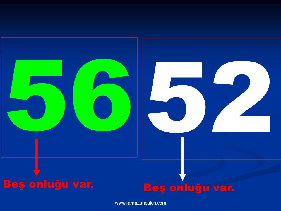 www.ramazansakin.com 56 52 Beş onluğu var. Beş onluğu var.