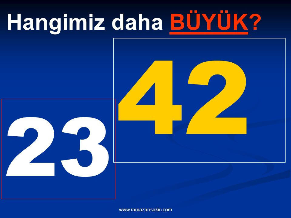 23 42 Hangimiz daha BÜYÜK?