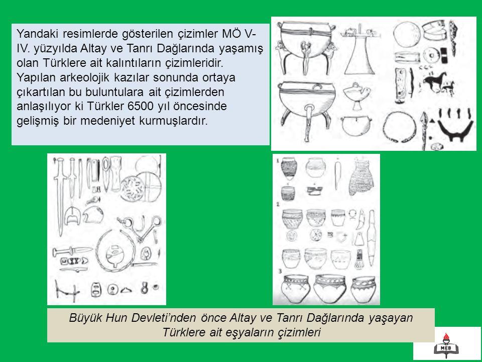 Yandaki resimlerde gösterilen çizimler MÖ V- IV.
