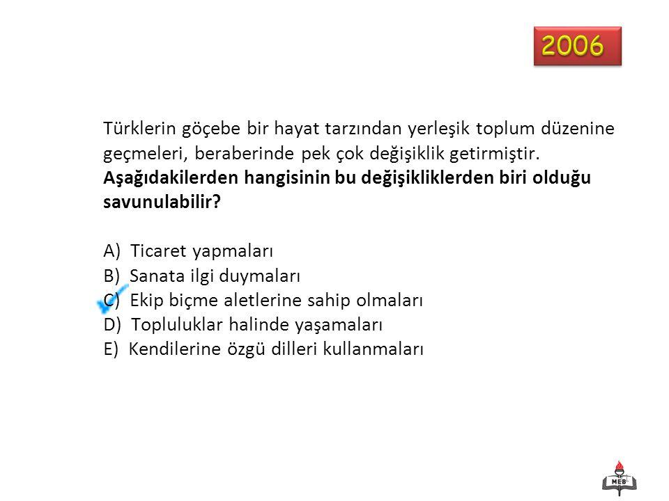 21 Türklerin göçebe bir hayat tarzından yerleşik toplum düzenine geçmeleri, beraberinde pek çok değişiklik getirmiştir.
