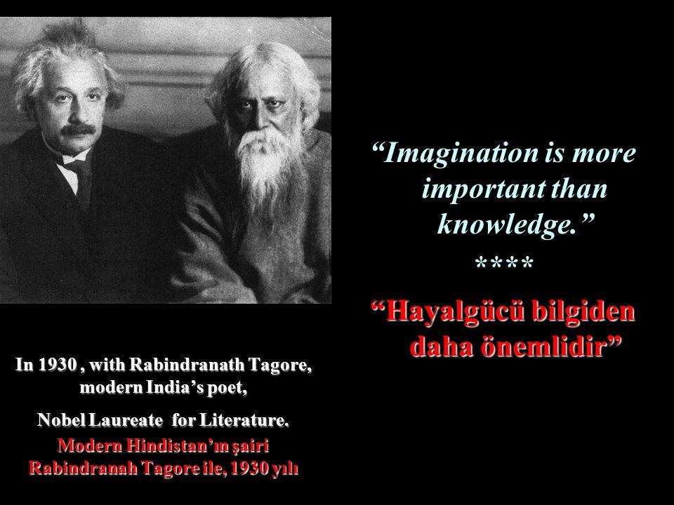 In 1930, with Rabindranath Tagore, modern Indias poet, Nobel Laureate for Literature. Modern Hindistanın şairi Rabindranah Tagore ile, 1930 yılı Imagi