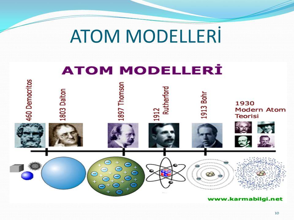 ATOM MODELLERİ 10