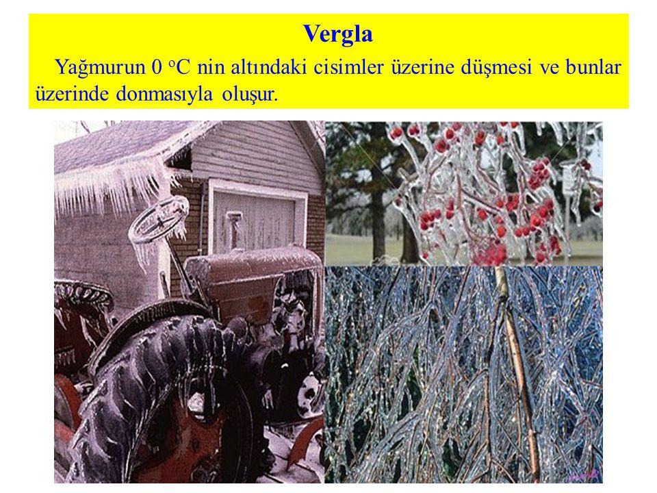 Vergla Yağmurun 0 o C nin altındaki cisimler üzerine düşmesi ve bunlar üzerinde donmasıyla oluşur.