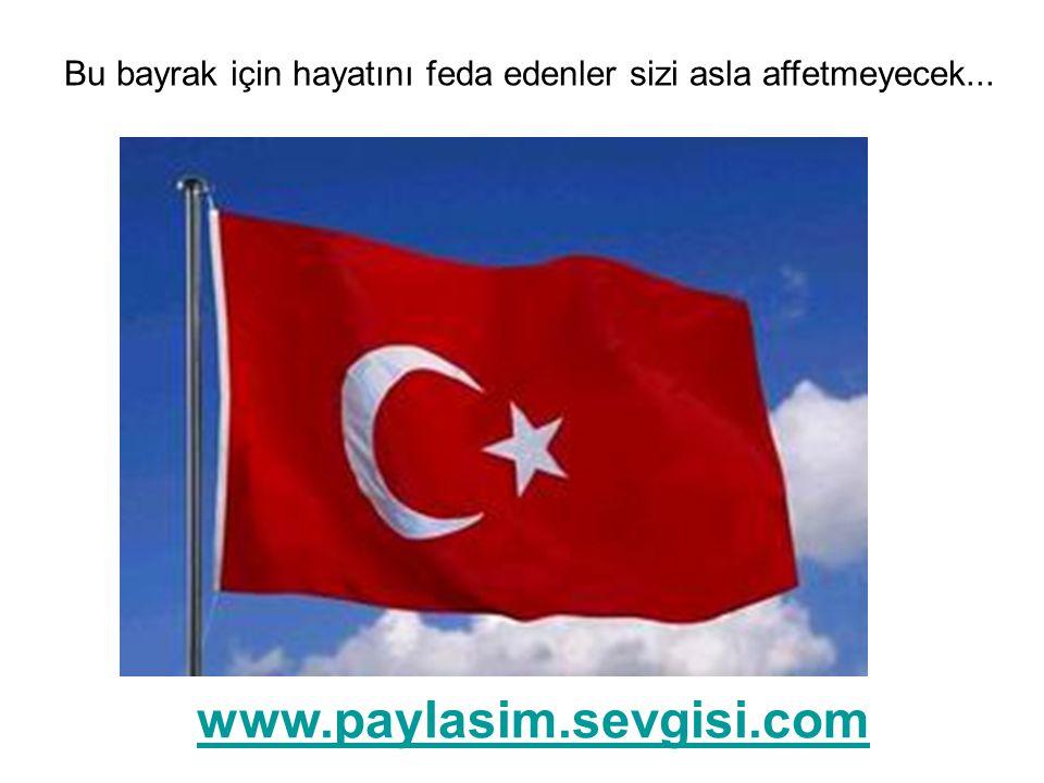 Bu bayrak için hayatını feda edenler sizi asla affetmeyecek... www.paylasim.sevgisi.com