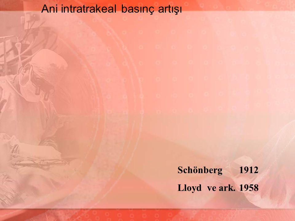 Schönberg 1912 Lloydve ark. 1958 Ani intratrakeal basınç artışı