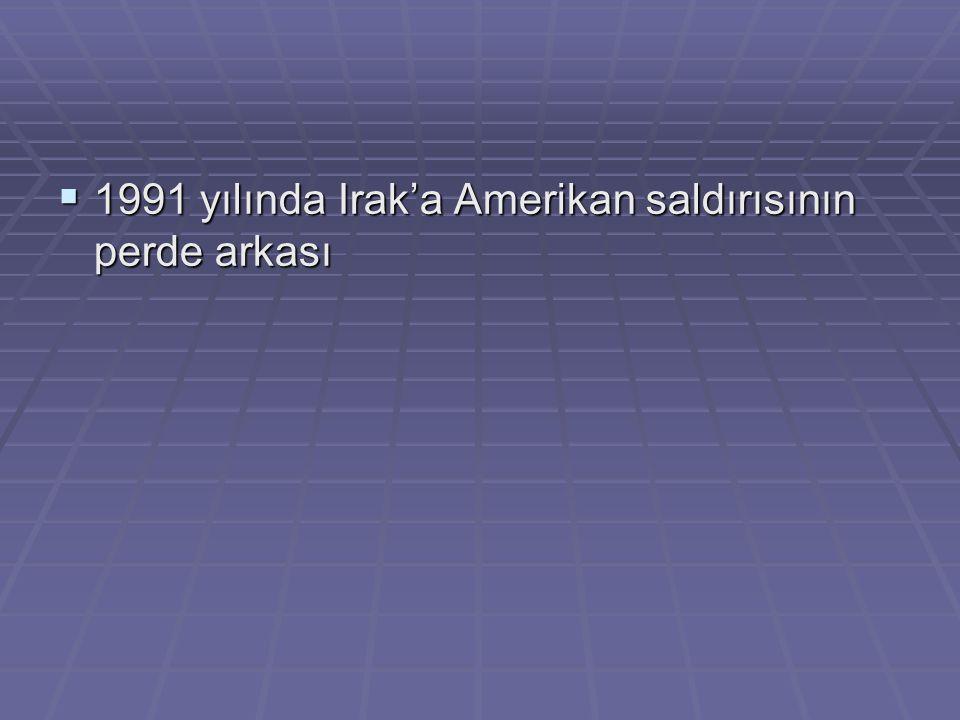  1991 yılında Irak'a Amerikan saldırısının perde arkası