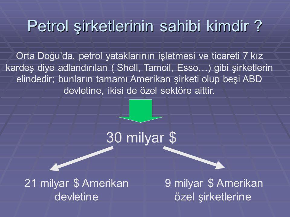 Petrol şirketlerinin sahibi kimdir .