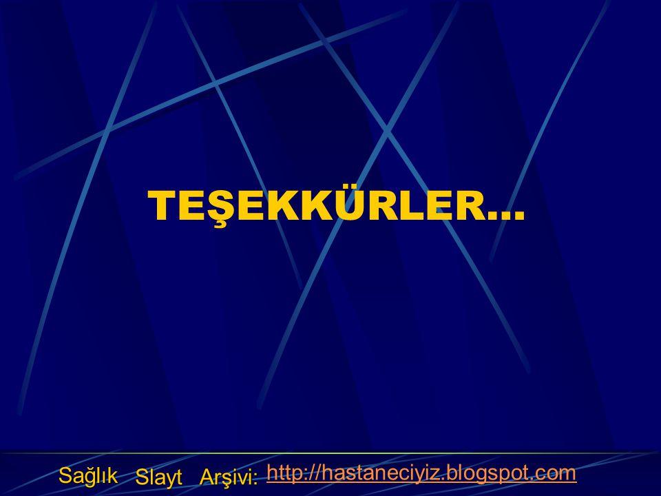 TEŞEKKÜRLER… Sağlık Slayt Arşivi: http://hastaneciyiz.blogspot.com