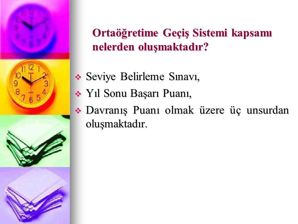 Ortaöğretime Yerleştirme Puanı (OYP) nedir.