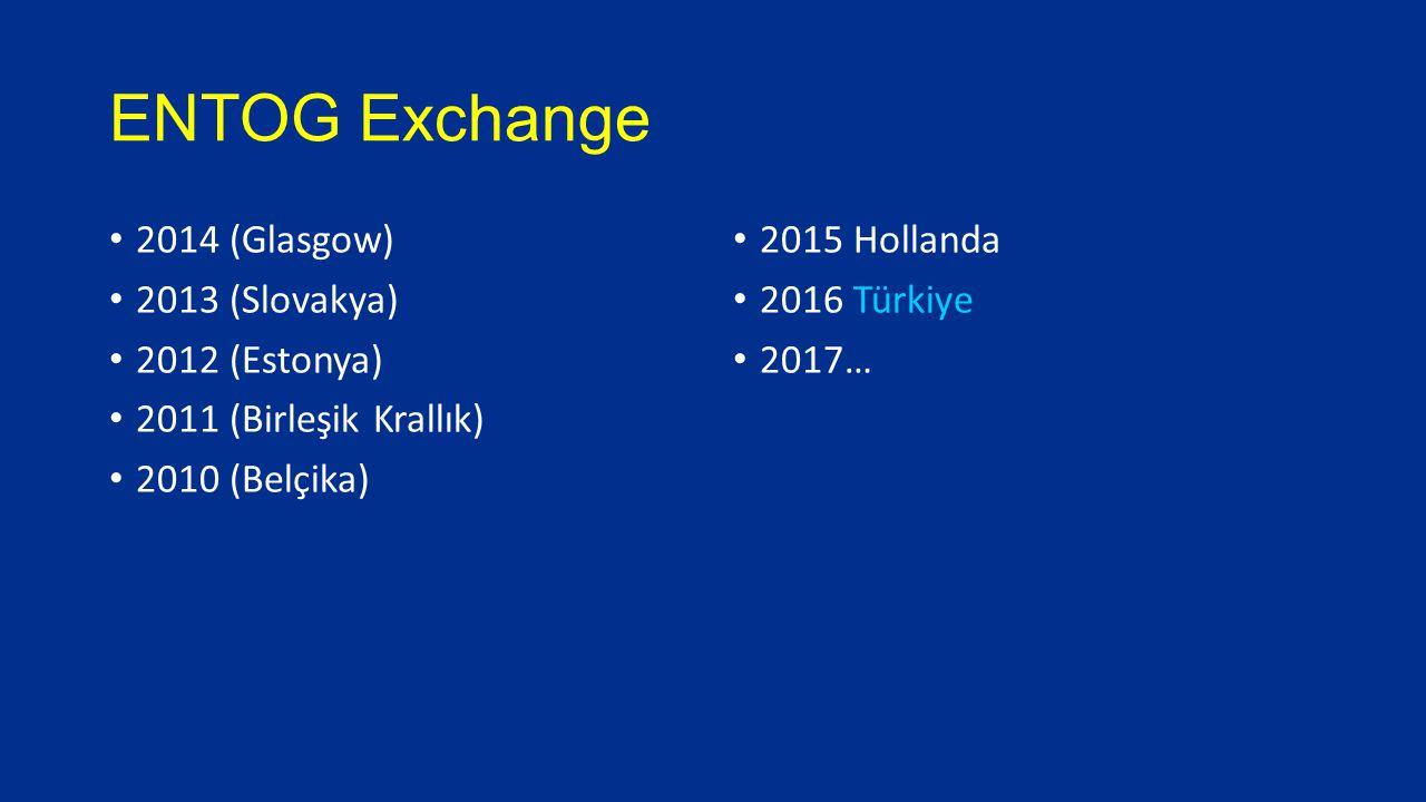 ENTOG Exchange 2014 (Glasgow) 2013 (Slovakya) 2012 (Estonya) 2011 (Birleşik Krallık) 2010 (Belçika) 2015 Hollanda 2016 Türkiye 2017…