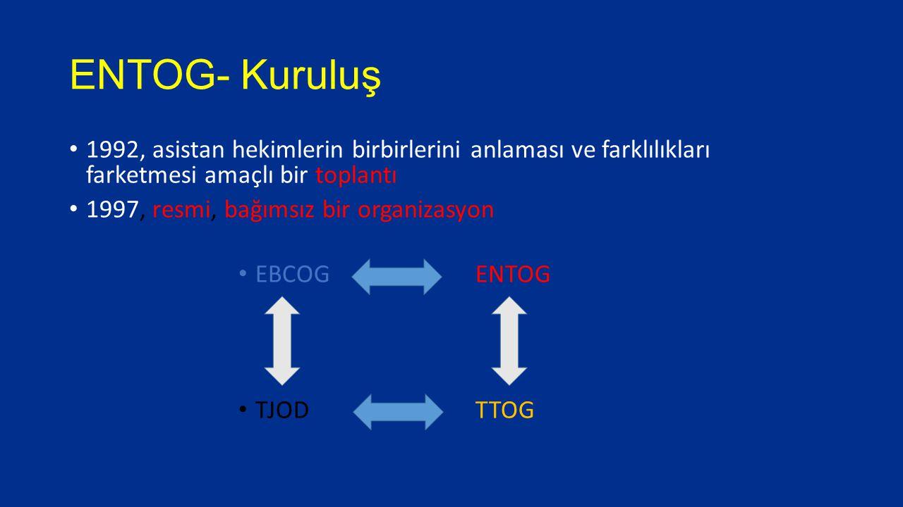 ENTOG Fellowship İlk değişim 2012 3 aylık program, Avrupa'dan 3 kişi EBCOG tarafından 3000 € burs Genel jinekoloji, perinatoloji, üreme tıbbı, ürojinekoloji ya da jinekolojik onkolojiyi içerebilir.