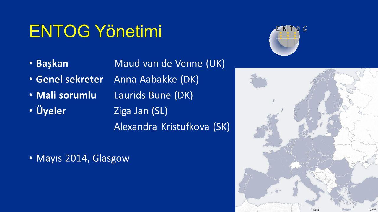 ENTOG Yönetimi Başkan Maud van de Venne (UK) Genel sekreter Anna Aabakke (DK) Mali sorumlu Laurids Bune (DK) Üyeler Ziga Jan (SL) Alexandra Kristufkov
