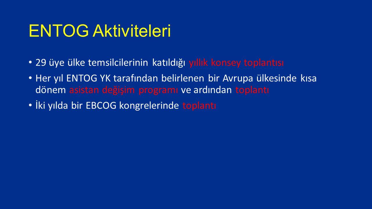 ENTOG Faaliyetleri Avrupa ülkelerinde asistanlara yönelik kuruluşlara öncülük etmek Tüm Avrupa ülkelerinde eğitimin içeriğini ve kalitesini incelemek Uzmanlık eğitimi için gerekli standartların oluşturulması ve bu standartların korunması konusunda tavsiyelerini almak üzere EBCOG ile işbirliği yapmak Uzmanlık eğitimi veren merkezlerin uyması gereken kriterler konusunda tavsiyelerini almak üzere EBCOG ile işbirliği yapmak