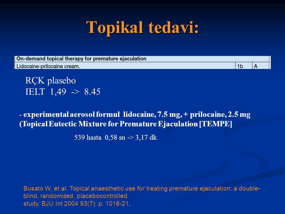 Topikal tedavi: Busato W, et al.