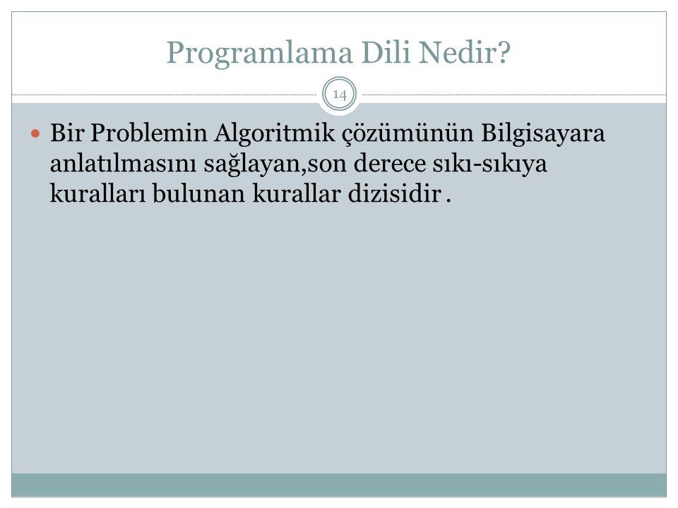 Programlama Dili Nedir.