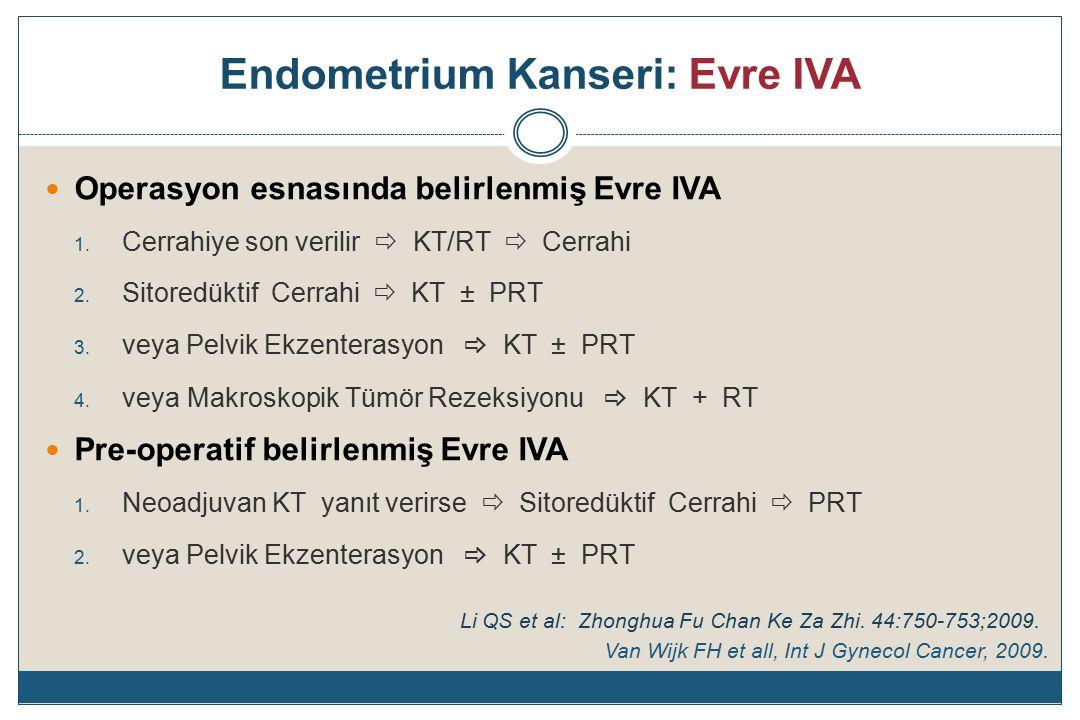 Endometrium Kanseri: Evre IVA Operasyon esnasında belirlenmiş Evre IVA 1.