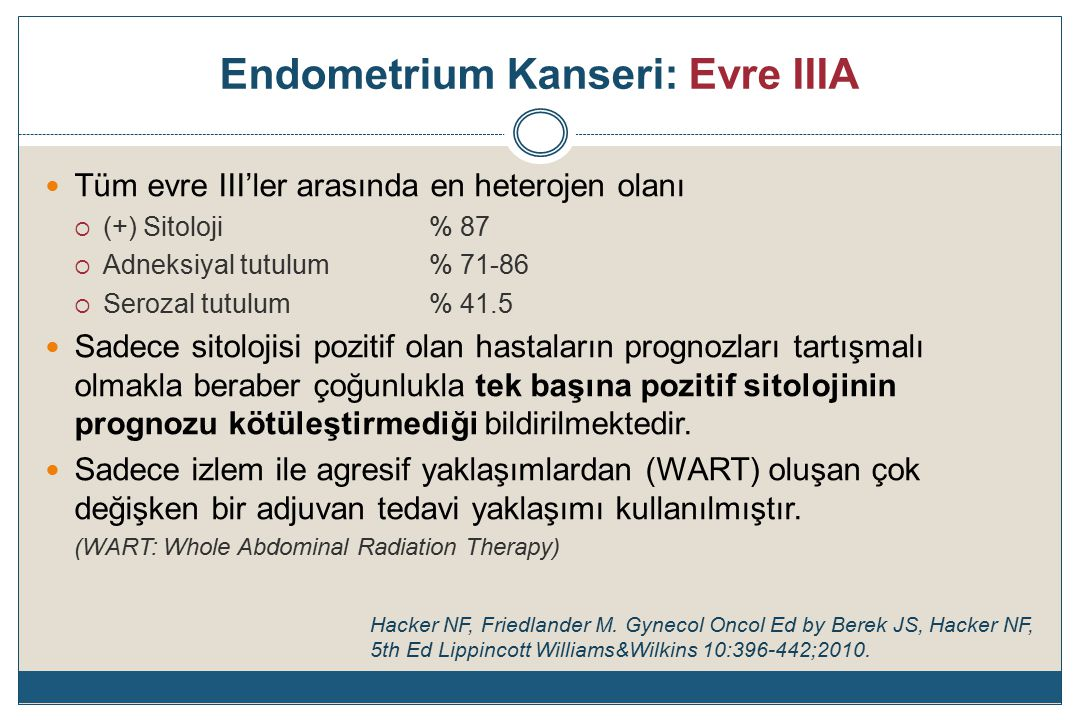 İleri Evre Endometrium Kanseri: İ.T.F.