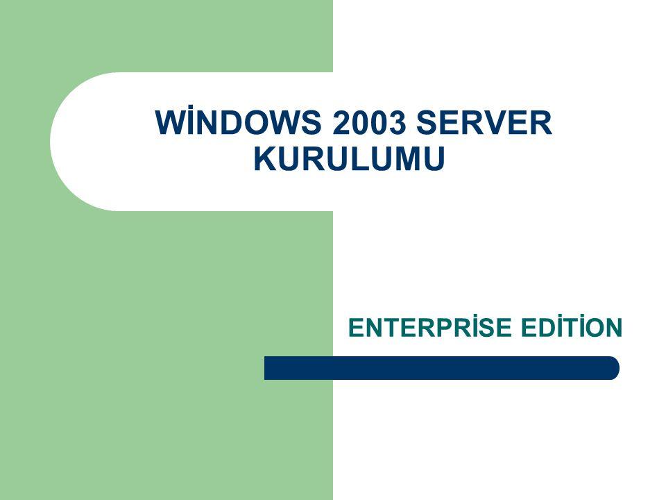 WİN – SET Abidin BAŞ – Cihad KAYALI Burada Windows Server 2003 ün sahip olduğu iki farklı lisans modundan biri seçiliyor.
