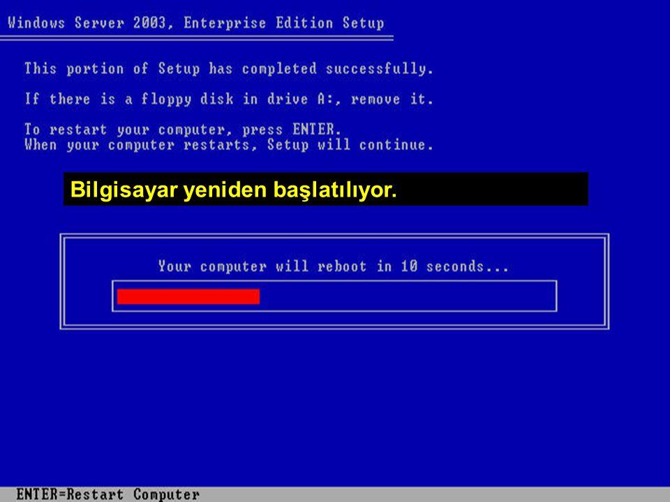 WİN – SET Abidin BAŞ – Cihad KAYALI Bilgisayar yeniden başlatılıyor.