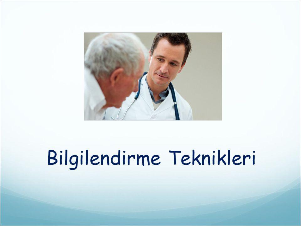  Hasta ile hekim arasındaki işbirliğinin ve bilgilendirmenin uygunluğunun belgesi hazırlanabilir.