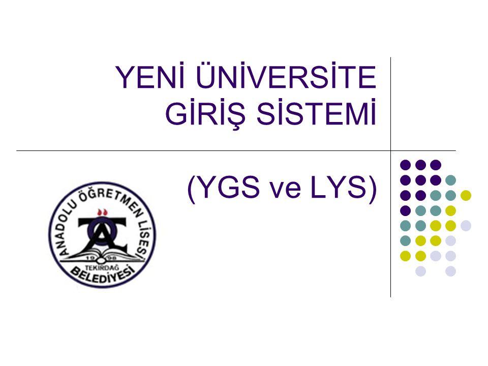  Yeni üniversite giriş sınavı 2 aşamalı bir sistem olacaktır.