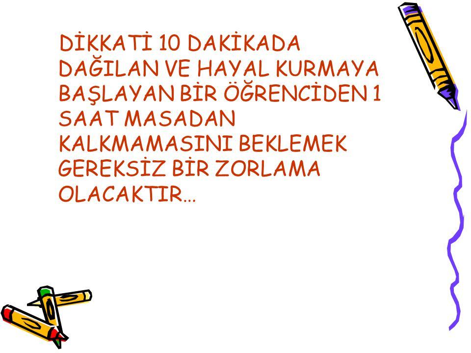 ÇUBUK ANADOLU LİSESİ REHBERLİK SERVİSİ ÇALIŞMA SÜRESİNİ YAVAŞ YAVAŞ ARTIRIN!!!
