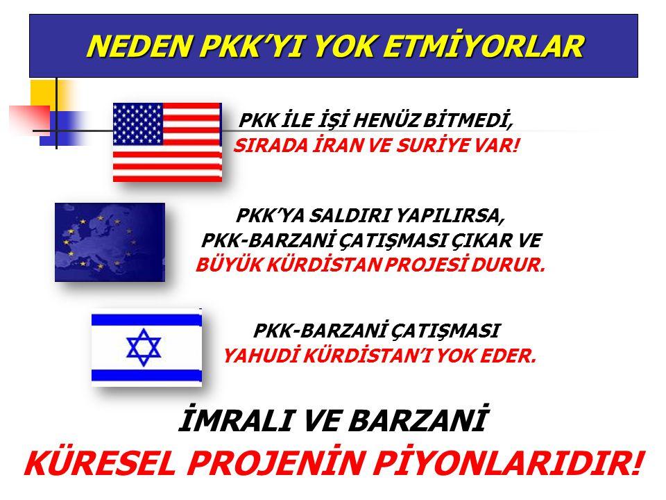 NEDEN PKK'YI YOK ETMİYORLAR PKK İLE İŞİ HENÜZ BİTMEDİ, SIRADA İRAN VE SURİYE VAR! PKK'YA SALDIRI YAPILIRSA, PKK-BARZANİ ÇATIŞMASI ÇIKAR VE BÜYÜK KÜRDİ
