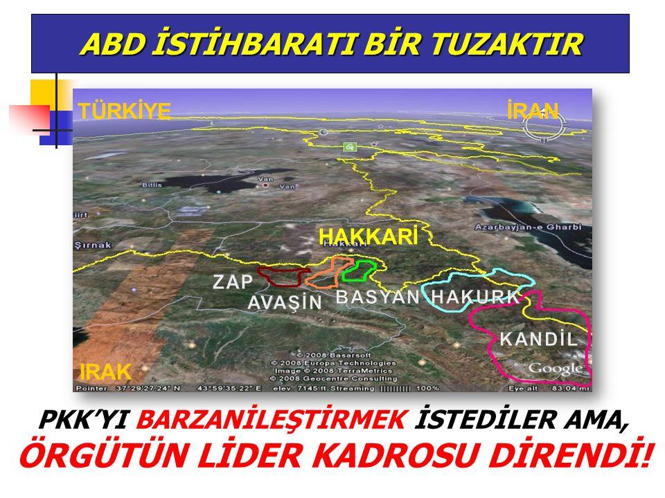 ABD İSTİHBARATI BİR TUZAKTIR TÜRKİYEİRAN IRAK HAKKARİ PKK'YI BARZANİLEŞTİRMEK İSTEDİLER AMA, ÖRGÜTÜN LİDER KADROSU DİRENDİ!